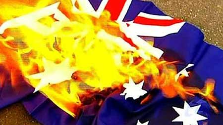 Australian Flag Desecration