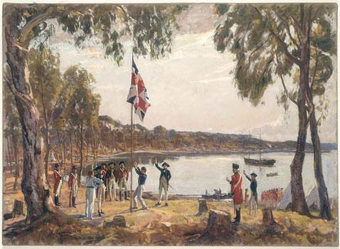 """Algernon Talmage R.A. """"The Founding of Australia"""""""