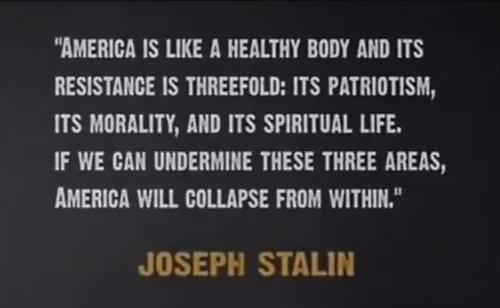 Agenda - Stalin Quote
