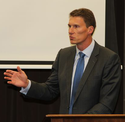 Cory Bernardi Addressing Audience - Sydney Traditionalists 2013