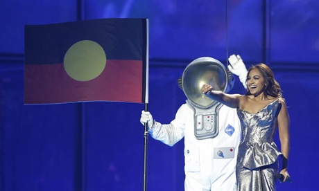 Jessica Mauboy performs at Eurovision