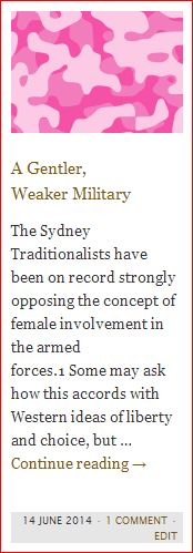 "Editorial, ""A Gentler, Weaker Military"" SydneyTrads (14 June 2014)"