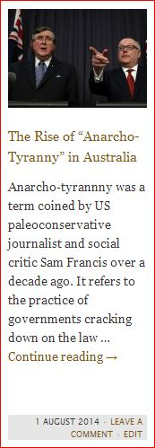 anarcho-tyranny in australia - button