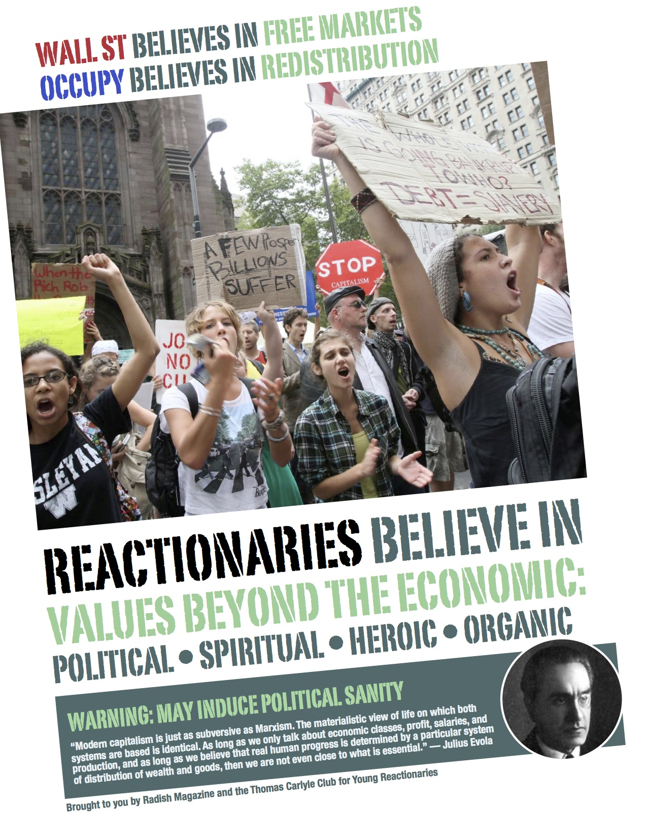 reactionary poster - reactionary values beyond economic