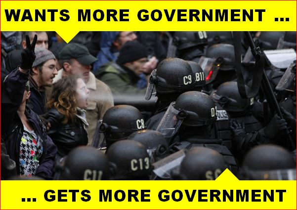 anarcho-tyranny - wants more government - gets more government