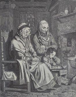 Walter Geikie - A Grandchild Reading - 1841
