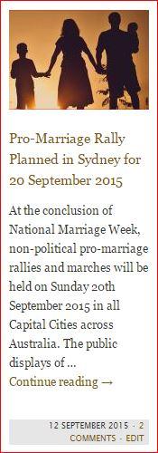 button - pro marriage rally sydney australia