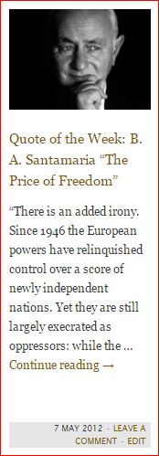button - quote - santamaria - price of freedom