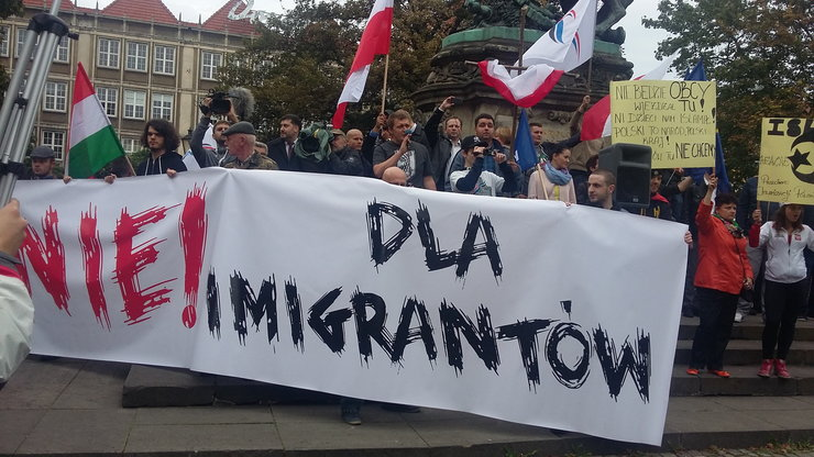 gdansk anti immigrant rally 12 september 2015 (b)