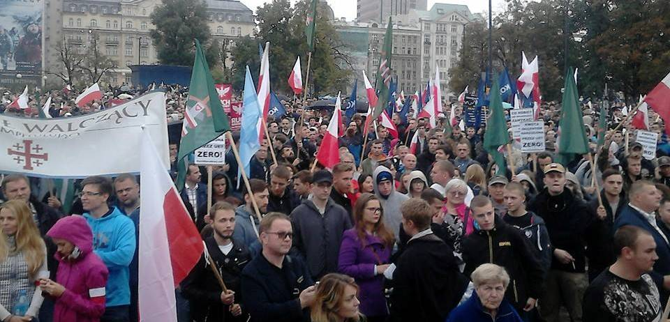 Polish anti immigration rally Warsaw 12 September 2015 (a)