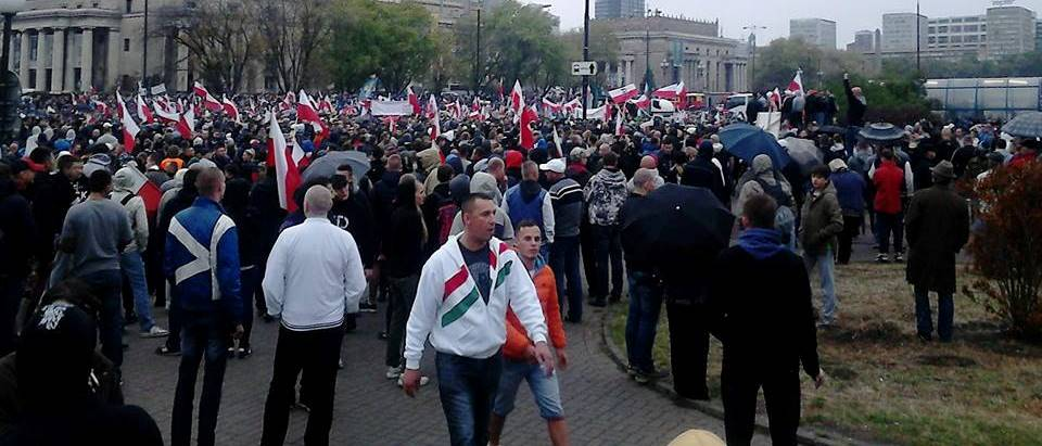 Polish anti immigration rally Warsaw 12 September 2015 (b)