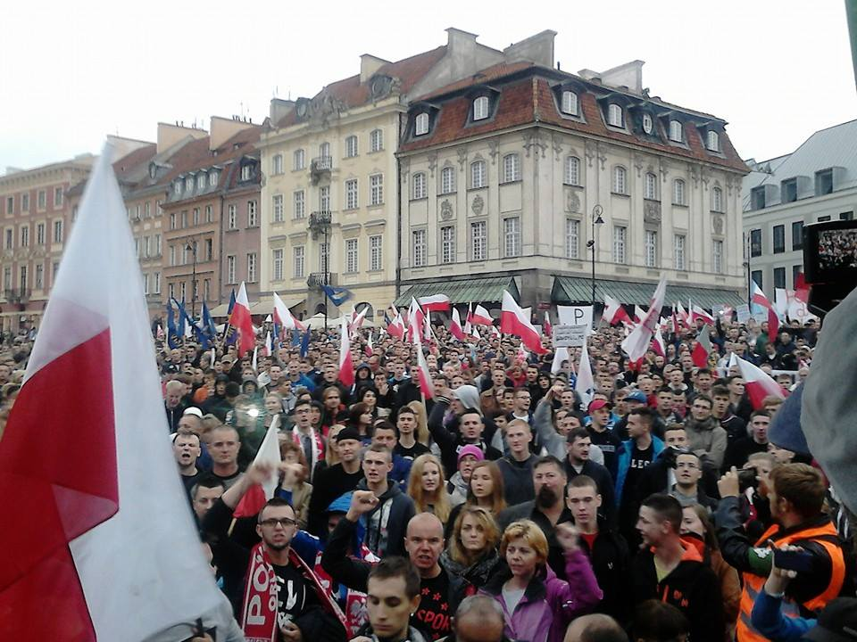 Polish anti immigration rally Warsaw 12 September 2015 (c)