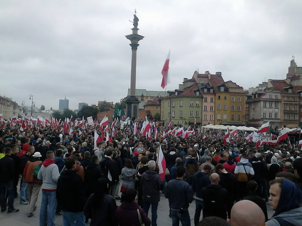 Polish anti immigration rally Warsaw 12 September 2015 (d)