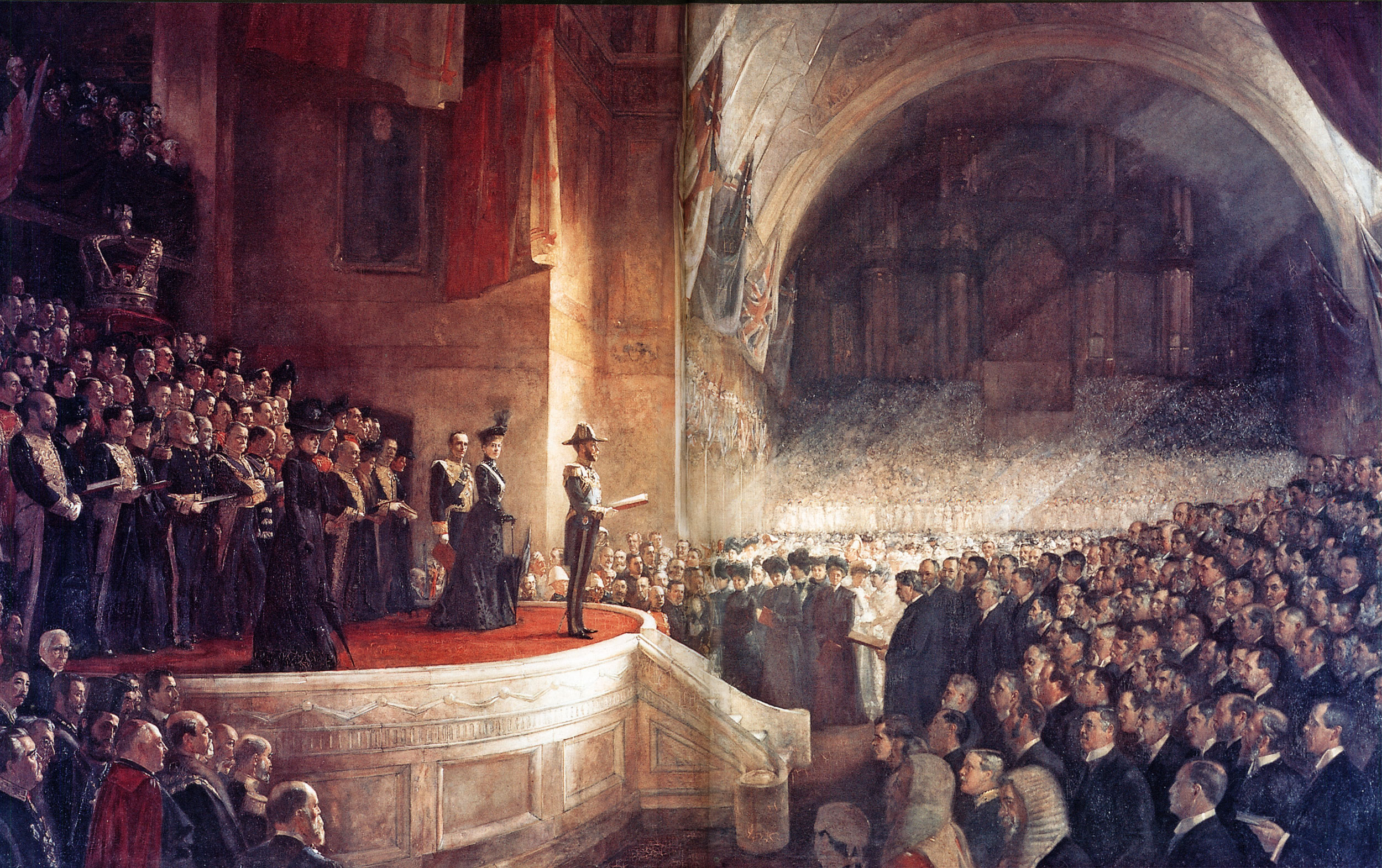 Opening the first Parliament of Australia 9 May 1901