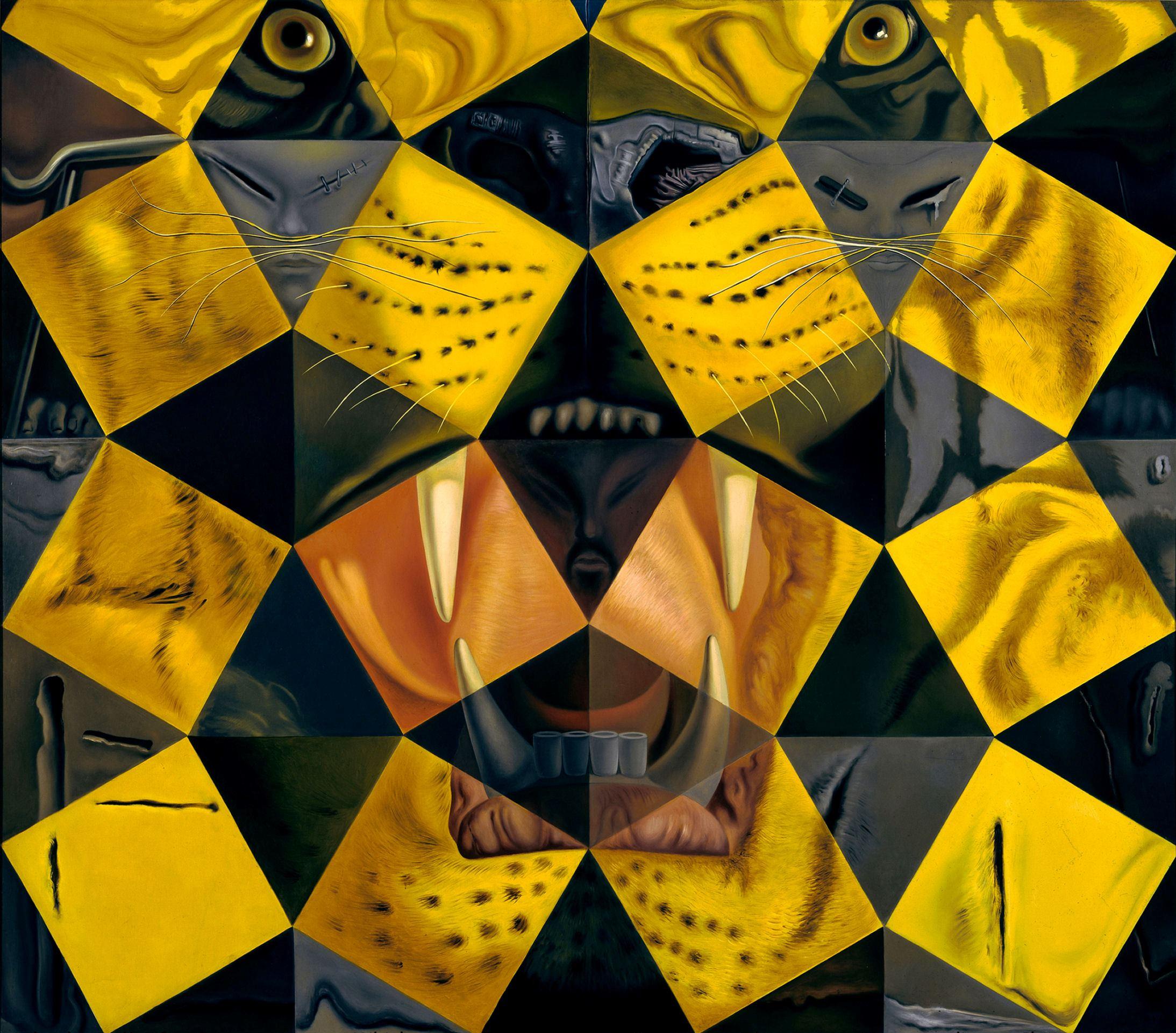 Salvador Dali 50 abstract paintings Tiger