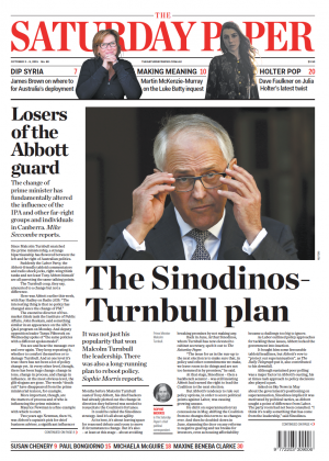 The Saturday Paper (cover) 3-9 October 2015