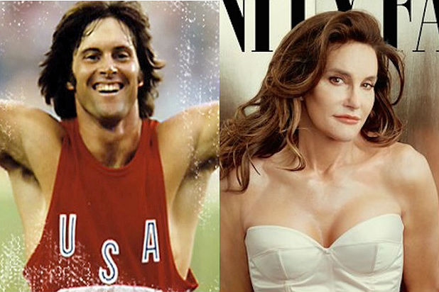 Bruce Jenner pretending to be a woman.