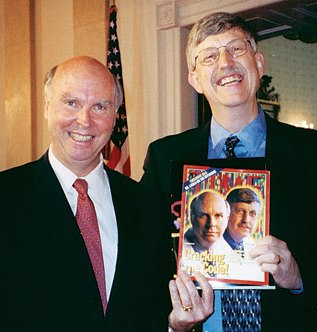 Francis Collins and Craig Venter