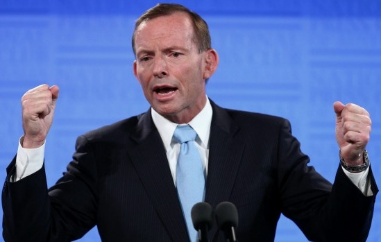 Tony Abbott pretending to be Conservative