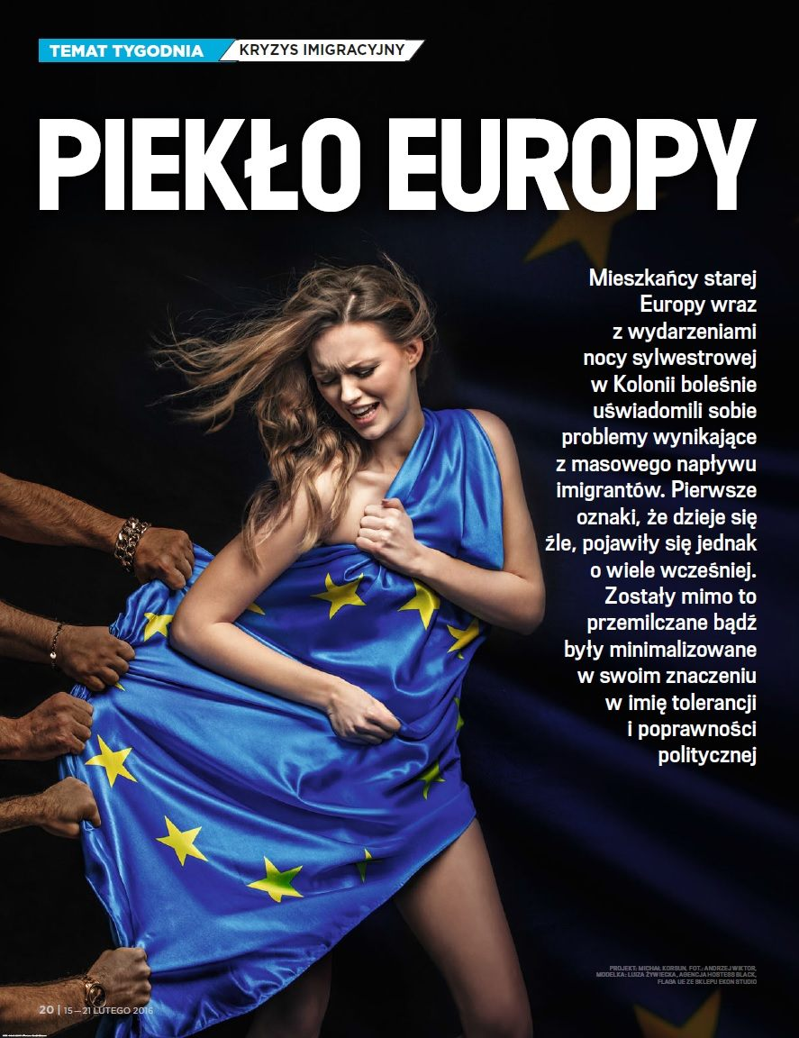 wSieci Islamic Rape of Europe Nr 7 168 15 21 February 2016 inside page