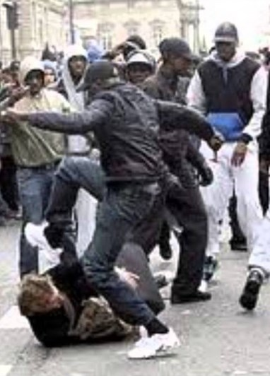 African Muslims Attack French Man