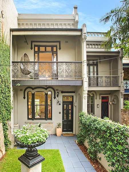 Example of Victorian Era terrace house Sydney Australia built in 1886