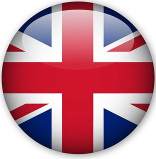 flag button - english