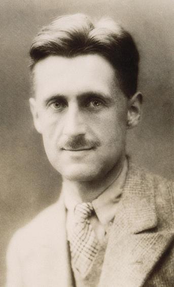 george-orwell sepia portrait