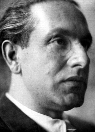 Julius Evola with monocle
